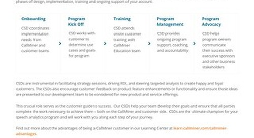 CallMiner Customer Success Directors