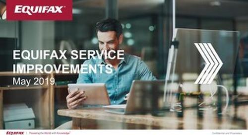 Equifax Canada Service Improvements - May 2019