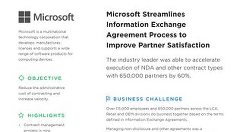 Microsoft Exchange Agreements (NDA) case study