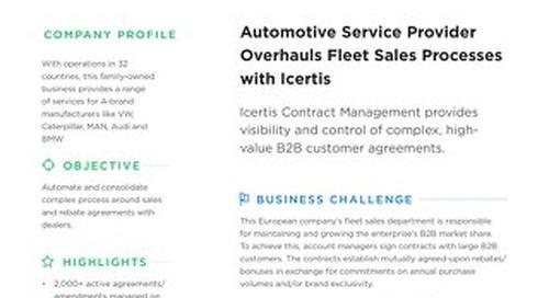 Automotive services provider case study