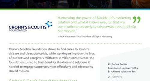 Customer Story: Crohn's and Colitis Foundation