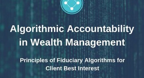 Algorithmic Accountability in Wealth Management - Univeris