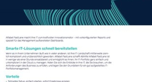 Alfabet FastLane - SaaS IT-Portfoliomanagement
