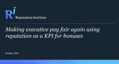 Making Executive Pay Fair Again Using Reputation as a KPI for Bonuses