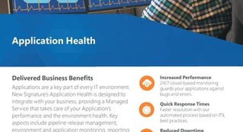 Application Health Flyer 2019