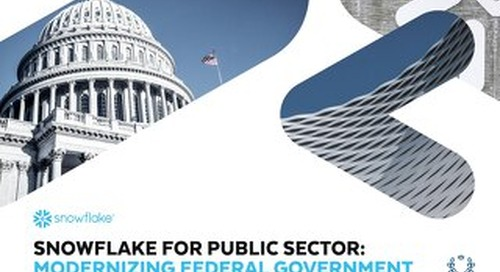 Modernizing Government for the 21st Century with Snowflake