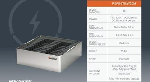 PowerSync Pro Tray 20 for iPad mini Spec Sheet