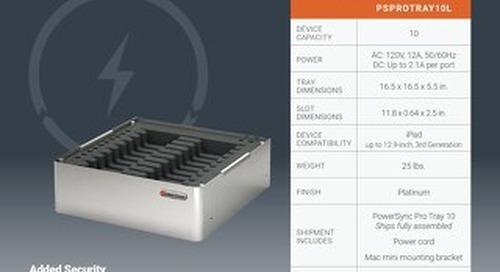 PowerSync Pro Tray 10 for iPad Spec Sheet
