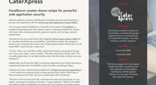 FoodStorm creator shares recipe for powerful web application security