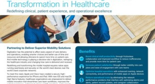 Cisco and iOS Accelerating Mobile  Transformation in Healthcare