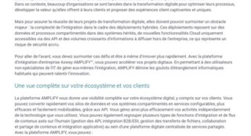 Plateforme d'intégration hybride AMPLIFY™