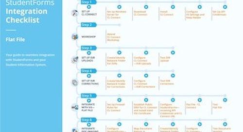 StudentForms Integration Flat File Checklist
