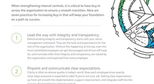 Tipsheet: Internal Controls for Grantmakers