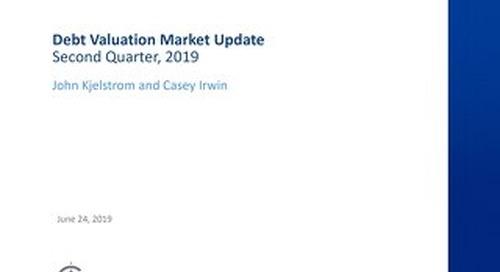 Slides: Debt valuation market update - Q2 2019