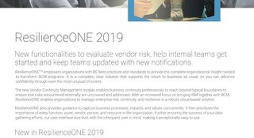 ResilienceONE 2019