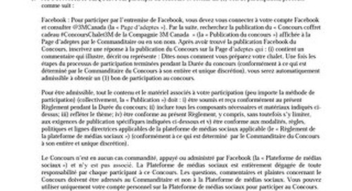 Rules and Regulations - 2019 contest French