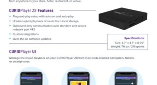 CURIOPlayer Z8 Overview