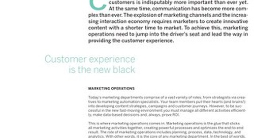 White paper - Strategic marketing operations organization