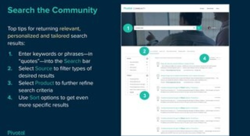 Pivotal Support introduces unified search capabilities
