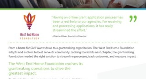 Customer Spotlight: West End Home Foundation