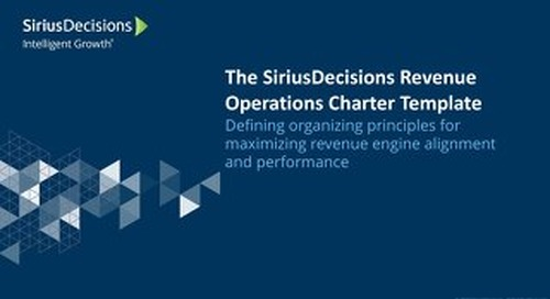 The SiriusDecisions Revenue Operations Charter Template