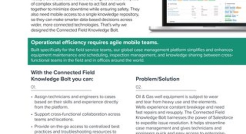 Connected Field Knowledge Bolt One-Pager