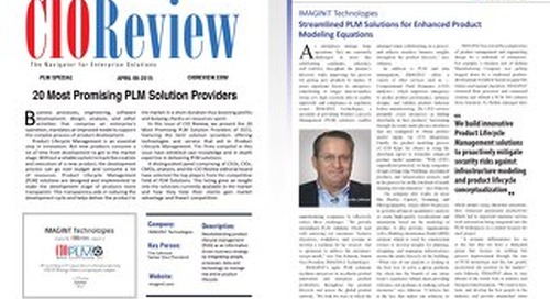 CIO Review: 20 Most Promising PLM Solution Providers
