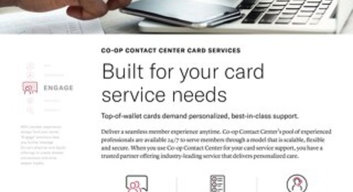 Card Services Slipsheet