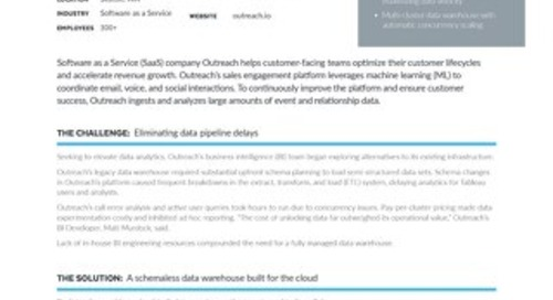 Outreach: Accelerating Data-Driven Software Development with Snowflake