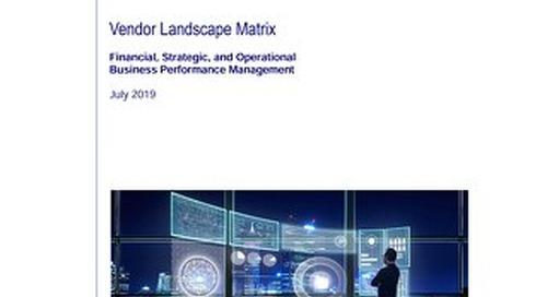 BPM Vendor Landscape Matrix