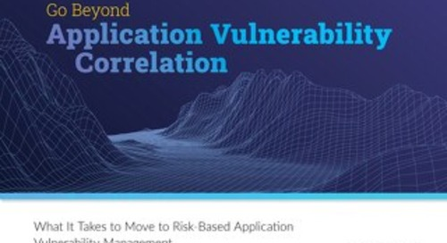 Go Beyond Application Vulnerability Correlation White Paper