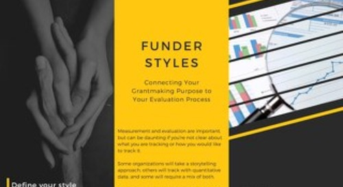 Funder Styles: Connecting Purpose to Evaluation