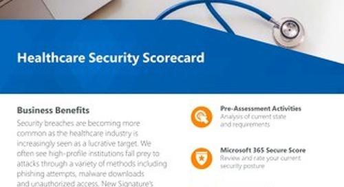 Healthcare Security Scorecard Flyer 2019