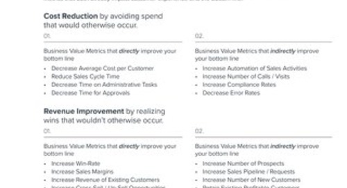 Using Business Value Metrics to Understand CRM ROI