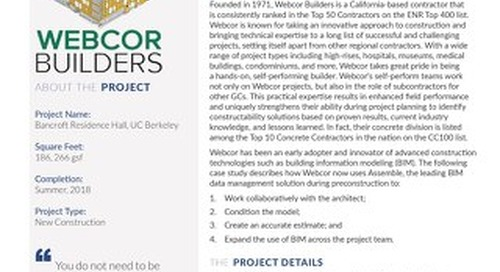 Webcor Builders Uses Assemble To Expand BIM Usage In Preconstruction