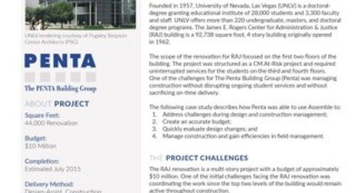The PENTA Building Group Successfully Renovates An Educational Institute Using Assemble