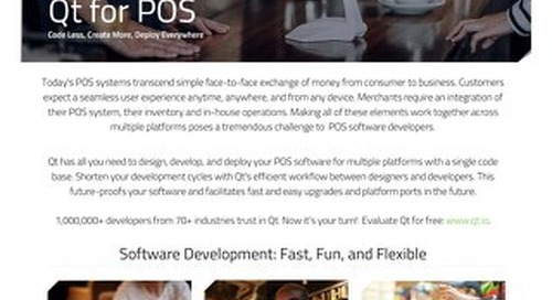 Datasheet: Qt for Point of Sale (POS)
