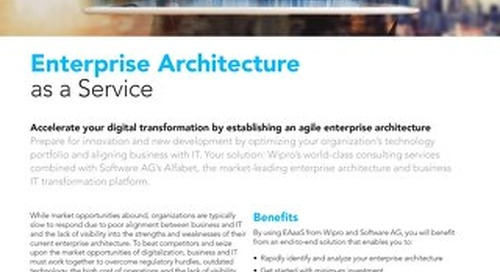 Enterprise Architecture as a Service from Wipro & Software AG