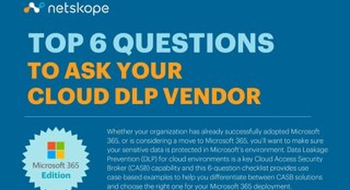 Top 6 Questions To Ask Your Cloud DLP Vendor - Microsoft 365 Edition