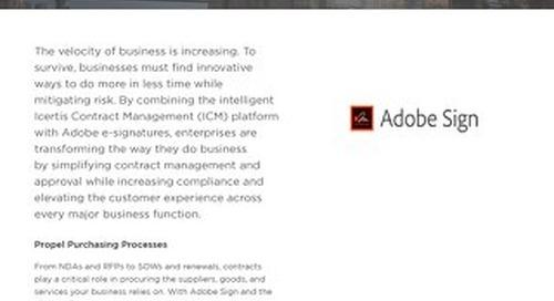 Icertis Adobe Sign Datasheet