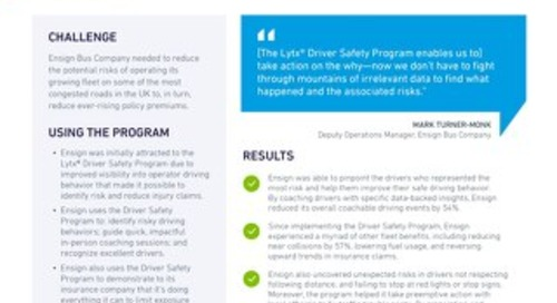How Lytx Helped 5 Fleets Reduce Cost and Improve Safety: Case Study Portfolio
