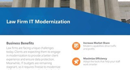 Law Firm IT Modernization Flyer 2019