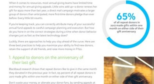 Whitepaper: 3 Annual Giving Strategies for FY20