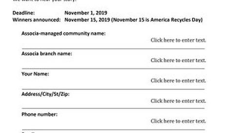 2019 Associa Green Award Application & FAQs