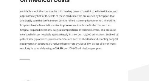 The Impact of Patient Safety on Medical Costs