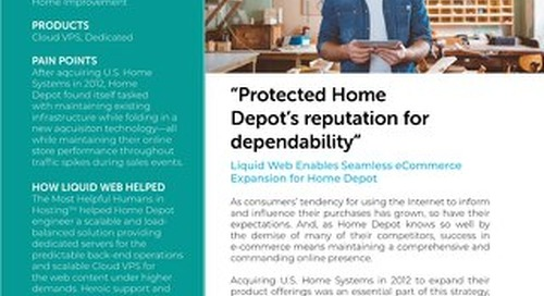 """Protected Home Depot's reputation for dependability"" - Home Depot Case Study"