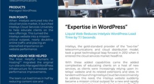 """Expertise in WordPress"" - Intelysis Case Study"