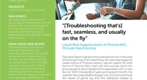 """""""[Troubleshooting that's] fast, seamless, and usually on the fly"""" - Disruptor Beam Case Study"""