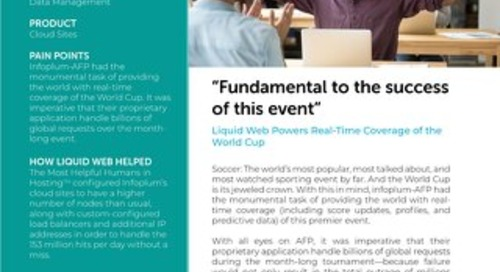 """""""Fundamental to the success of this event"""" - Infoplum Case Study"""