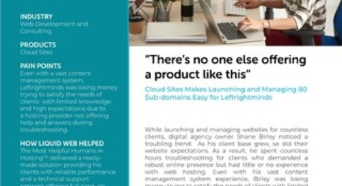 """""""There's no one else offering a product like this"""" - Leftrightminds Case Study"""